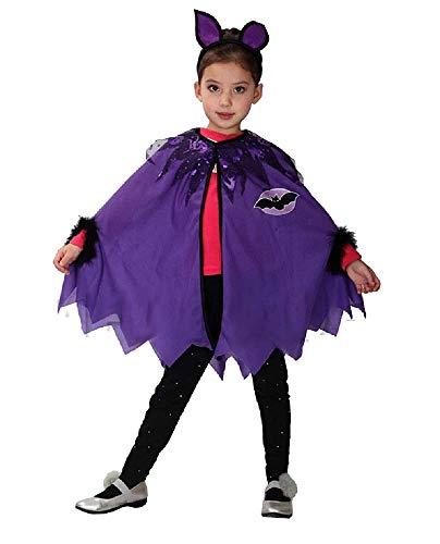 Vleermuismeisje kostuum - vleermuis - meisje - vermomming - carnaval - halloween - accessoires - maat s - 95/110 cm - cadeau-idee voor kerstmis en verjaardag cosplay batman