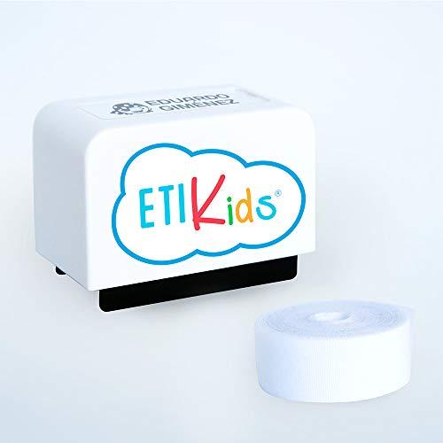 Textilstempel Personalisiertes Stempel für Kinderbekleidung und -bücher. Mehr als 100 Anpassungen verfügbar. Weiß