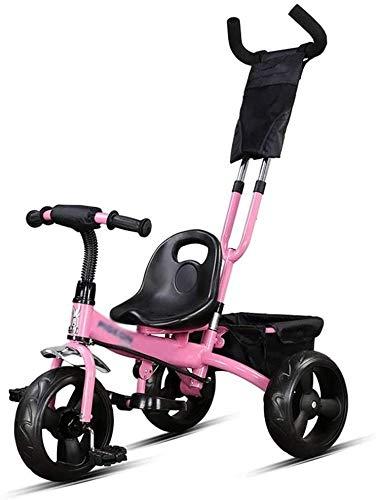 GZCC Passeggino per Bambini Bici a pedali Triciclo coperta Triciclo per Bambini 2~10 Anni (Colore: Giallo,dimensioni: 76x43x59 cm)