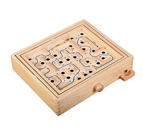 Tilt Maze Game by, 4in 1Mazes W/inclinabile joystick–bonus'I' m A Challenge–Super Fun puzzle labirinto gioco per bambini e adulti–Giocattolo educativo per Focus, capacità motorie