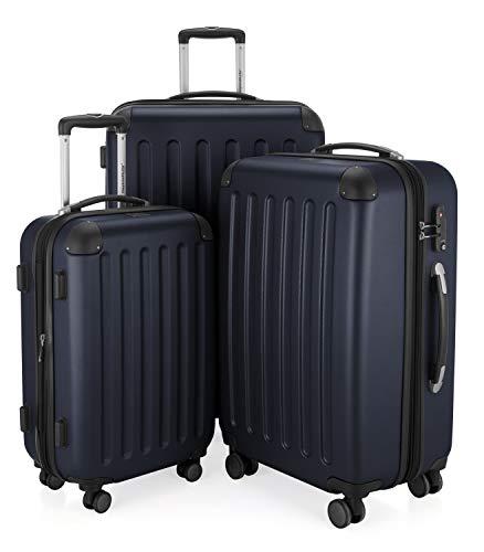 Hauptstadtkoffer 42246366, Trolley da Viaggio, colore Blu Scuro, Set