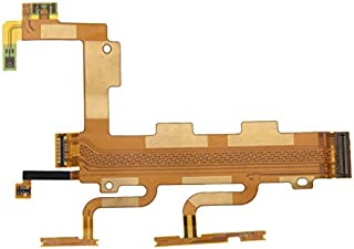 SHIHUI Replacement Parts Power Button & Volume Button & Microphone Ribbon Flex Cable for Sony Xperia C3