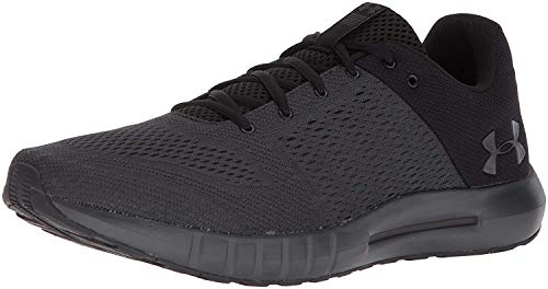 Under Armour mens Micro G Pursuit Running Shoe, Anthracite (104)/Black, 12