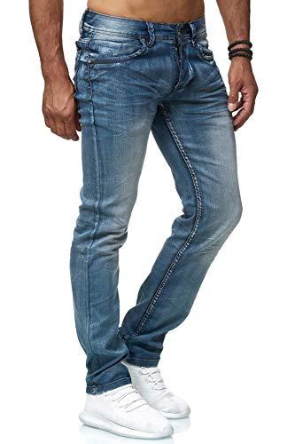 Herren Jeans Hose Gefüttert Fleece Innen Stretch Regular Fit Used Washed