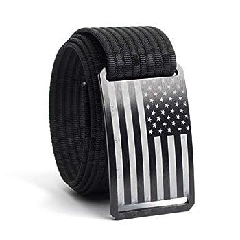 36 Inch Black American Flag Belt Buckle w/Black Strap