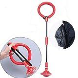 Swing Wheel mit Lichtrad, Kinder Blinkender Springring Fußkreisel, Faltbare Glühender Springender Ball, lustiges Spielzeug für Kinder und Erwachsene, Outdoor-Hüpfspiel (Rot)