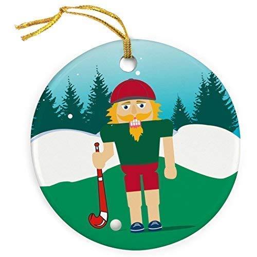 Cukudy Field Hockey keramische kerst ornamenten 2018 nieuwigheid notenkraker kerst