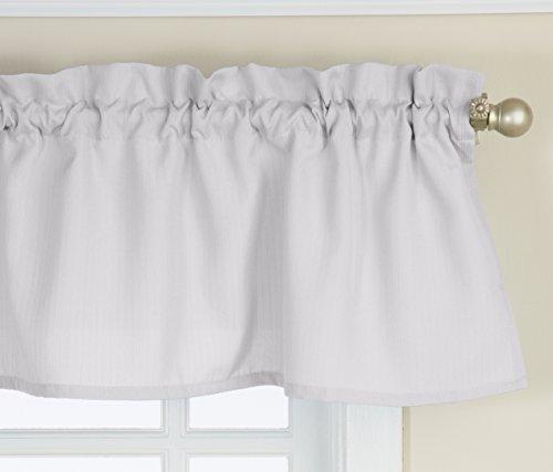 Lorraine Home Fashions Ribcord Valance, 54-Inch x 12-Inch, White