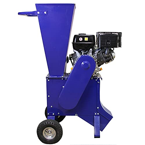 T-Mech 15HP Petrol Wood Chipper 420cc | Garden Shredder Mulcher 4-Stroke | Timber Bush Branches | FREE assembly and & tool kit | FREE protection equipment