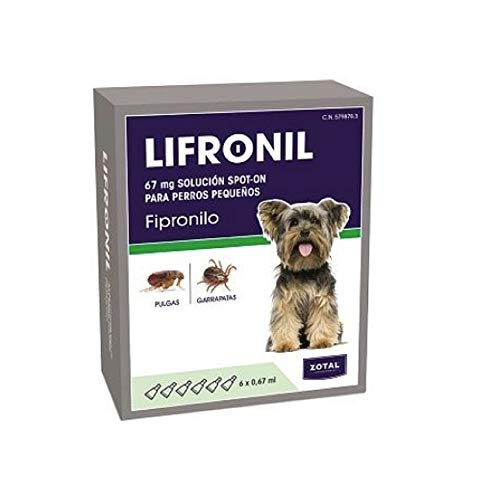 Zotal LIFRONIL FIPRONILO Perros PEQUEÑOS 6 PIPETAS