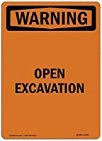 注意サイン-発掘調査を開きます。通知のためのインチ通りの交通危険屋外の防水および防錆の金属錫の印