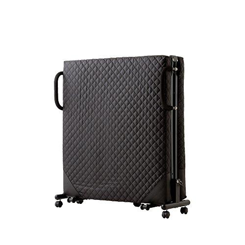 折りたたみベッド シングル キャスター付き マットレス キャスター 手すり 移動 PVCガード (ブラック)