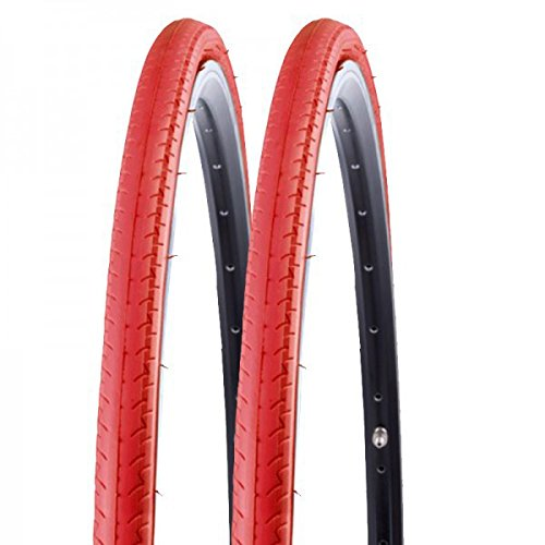 2x Kenda Rennrad Fixie Reifen Kontender K-196 26-622 700x26C Draht rot