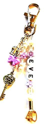 Birthday Keyring~bag charm~16th~18th~21st~30th~40th~50th~65th~personalised (40th keyring)