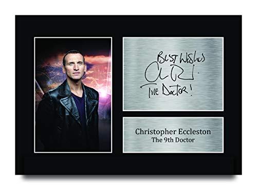 HWC Trading Christopher Eccleston A4 Ungerahmt Signiert Gedruckt Autogramme Bild Druck-Fotoanzeige Geschenk Für Dr Who Tv-Show-Fans