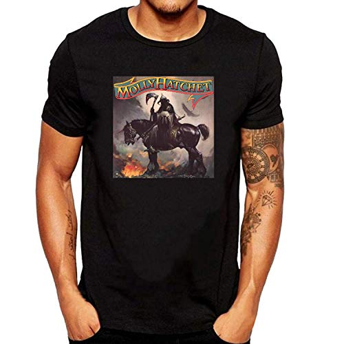 XUNLINLL Molly Hatchet Molly Hatchet Men's T Shirt Black