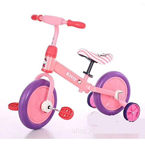 Coverp Bilancia Triciclo per Bambini Multifunzione Auto Rimovibile Senza Pedali Scooter per Bambini a Due Ruote Bicicletta,4