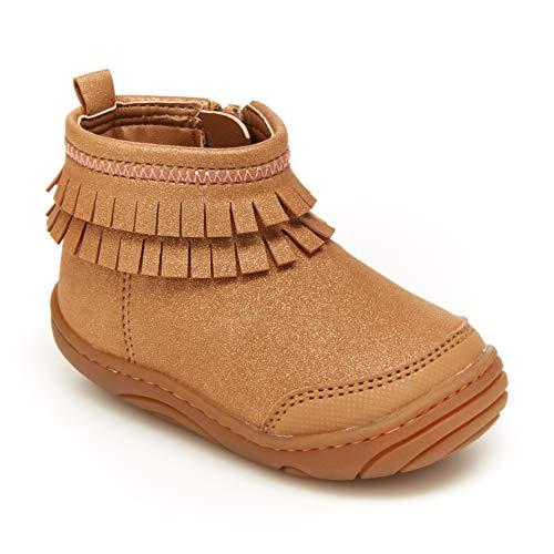 Stride Rite 360 Girls Bianca Fashion Boot, BROWN, 4 Little Kid