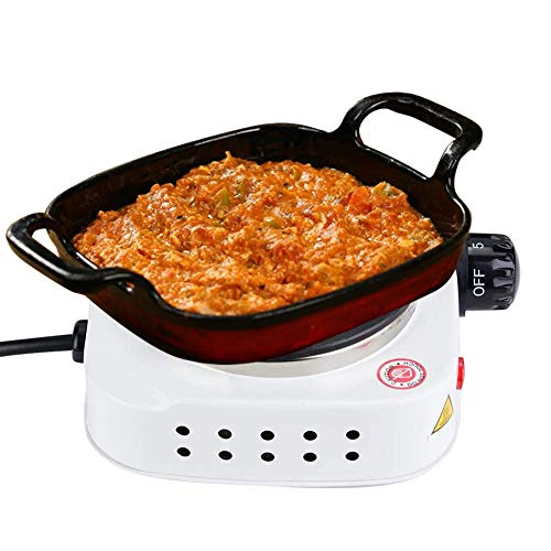 Mini Electric Countertop Burner Hot Plate Portable 500W Electric Mini Stove Hot Plate Multifunctional Home Heater for Cooking Soup and PorridgeUS Plug 110V
