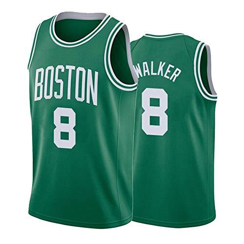 SWA Camiseta de baloncesto #8 Celtics Walker uniforme de baloncesto chaleco de los hombres cómodo transpirable deportes entrenamiento chaleco S-2XL-verde-XL