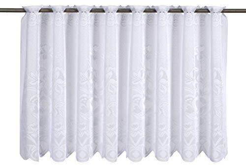 Elbersdrucke 1129 weiß Bistrogardine, Polyester, 60 x 160 cm