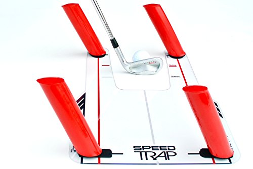 "EyeLine Golf Speed Trap 1.0 - Unbreakable Base, Red Speed Rods and Carry Bag; Shape Shots and Eliminate a Slice or Hook - Made in USA (2018 Version) , 12"" x 18"""
