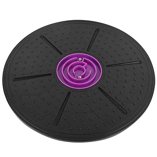 Yosoo 150KG Load Bearing Yoga Balance Board-Purple Labyrinth Disc Standing Balance Board Trainer with Ergonomic Design for Exercising Body Stability