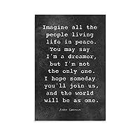 John Lennon音楽ポスタージョンレノンミュージシャン20 キャンバスウォールアートプリントポスターギフト写真絵絵画ポスター部屋の装飾家の装飾12x18inch(30x45cm)