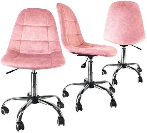 LTHDD Silla ergonómica del Respaldo de la Tela Moderna, el Personal de Muebles de Oficina Casual, Mesa y sillas giratorias de Cinco Ruedas, Amarillo, Verde, Color Nombre: Púrpura (Color : Pink)
