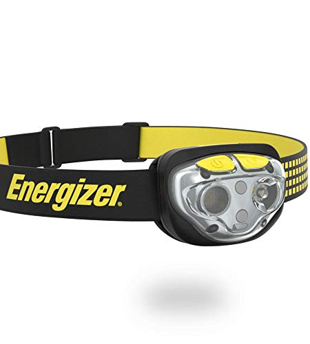 Energizer LED Headlamp Flashlight, 400 High Lumens, For Camping, Running, Hiking, Emergency Light, Survival Kit Head Lamp, Rechargeable Headlamp, Water-Resistant Headlight, 6 Modes, 400 Lumens