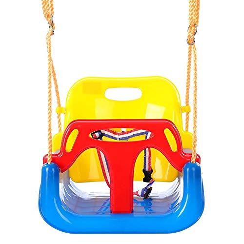jjff 3 In 1 Kleinkind Schaukelstuhl, Elastic Kids Schaukelsitz im Freien, Abnehmbarer Schaukelsitz Schaukelstuhl mit hoher Rückenlehne für den Spielplatz im Innenbereich