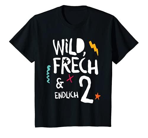 Kinder Wild, Frech & endlich 2, Kindergeburtstag zweiter Geburtstag T-Shirt
