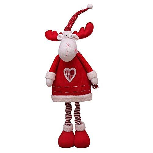 Kerstversiering, sneeuwman/kerstmis hert/kerstman zitten kerstballen, kikkere kerstversiering cadeau Telescopische kerstshirt.