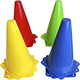 CampTeck U7154 Conos Entrenamiento Futbol, Conos Señalizacion Conos Tráfico Deportivos -Multicolour -12pcs