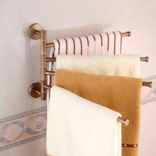 ZIHUAD Bad Regal,Bad Lagerregal, antikes Kupfer Klapp Aktivität Bad Handtuchhalter Wc Handtuchhalter Rack Bad Wandbehang Anhänger-fourshots