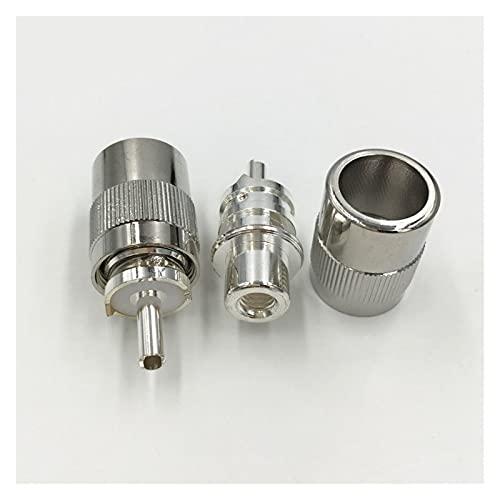 Shutters 10pcs De Plata De Latón Plateado UHF PL-259 Soldadura Masculina RF Enchufe del Conector Apto para RG58 RG142 LMR195 RG400 Adaptador De Cable Coaxial