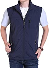 Gihuo Men's Casual Outdoor Lightweight Quick Dry Travel Vest Outerwear (Navy, XX-Large)