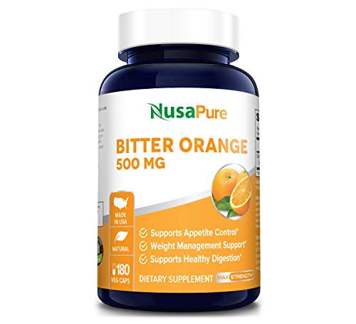 Bitter Orange 500mg 180 Veggie Caps (Vegetarian, Non-GMO & Gluten Free) - Weight Loss Supplement - Natural Appetite Suppressant