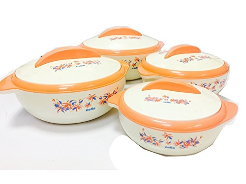 Cello Sizzler Insulated Casserole Food Server Hot Pot Gift (4-Piece Set), 4-Pack