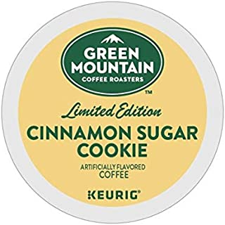 Green Mount Coffee Cinnamon Sugar Cookie Keurig Single-Serve K-Cup Pods, Light Roast Coffee, 24 Count