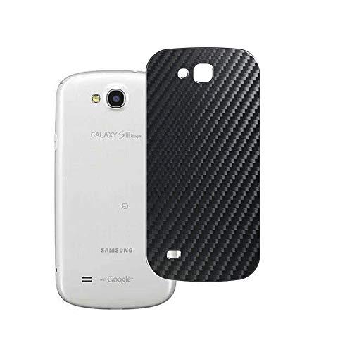 VacFun 2 Piezas Protector de pantalla Posterior, compatible con Samsung Galaxy SIII Progre SCL21 s3, Película de Trasera de Fibra de carbono negra