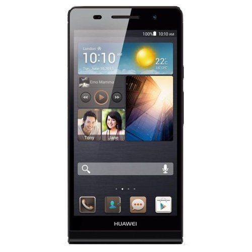Huawei Ascend P6 Smartphone (11,9 cm (4,7 Zoll) Touchscreen, 8 Megapixel, 8GB Speicher, Android 4.2) schwarz
