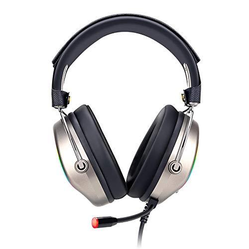 BANLV Auriculares Que escuchan Audio del Juego del Juego con el micrófono portátil 7.1 del oído