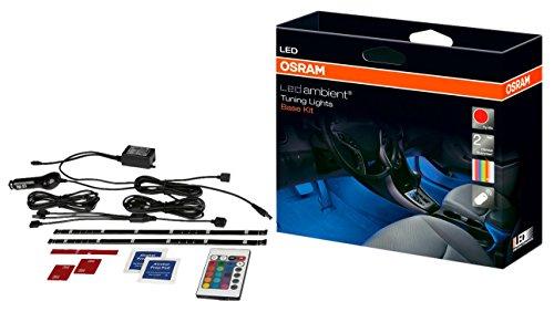 Osram LEDambient Tuning Lights Basis-Kit, Fahrzeug-Innenraumbeleuchtung, LEDINT201, 16 Farben, 5 Modi, Steuerung über Fernbedienung, 12V, Faltschachtel (1 Stück)