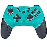 YUES Mando Inalámbrico para Nintendo Switch Pro/Lite, Gamepad con Doble Choque/Motor de Vibración/Giroscopio de 6 Ejes/Turbo Ajustable/Joystick Remoto,Azul