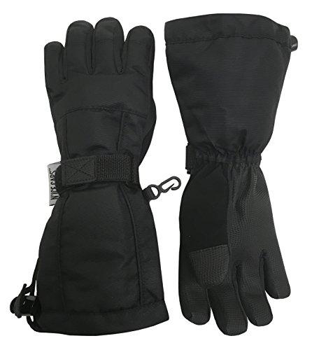 N'Ice Caps Kids Extreme Cold Weather 100 Gram Thinsulate Waterproof Ski Gloves (Black 2, 5-6...
