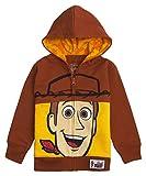 Disney Toy Story Big Face Zip-Up Hoodies -Buzz Lightyear, Sheriff Woody - Boys (Woody Brown, 5/6)