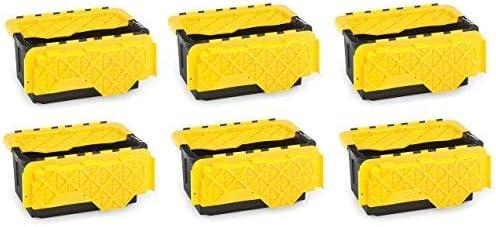 Homz New color 15 Gallon Tough Flip Lid Black Max 41% OFF Container Storage Plastic a