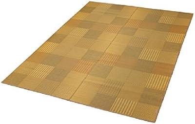イケヒコ い草 ラグ カーペット DX京刺子 約191×250cm ベージュ 日本製 裏 不織布 #1709430