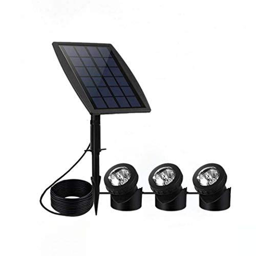 LED zonnelicht landschap schijnwerper waterdicht 2 in 1 waterdicht aan/uit automatisch voor buitenverlichting hoek (3 stuks)